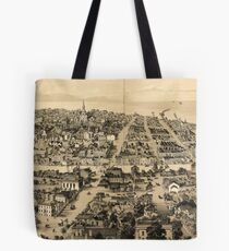 Vintage Pictorial Map of Milwaukee WI (1854) Tote Bag