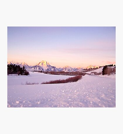 Sunrise in the Tetons, Wyoming USA! Photographic Print