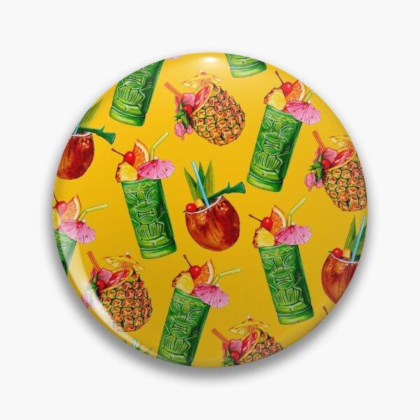 Motif de cocktail Tiki - Jaune Badge
