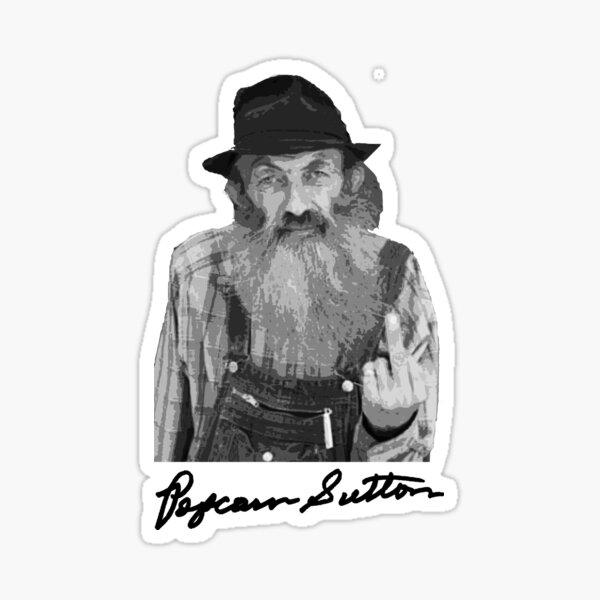 Popcorn Sutton Signed Autographed Facsimile Shirt T-Shirt Moonshine Sticker