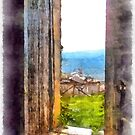 Rocca Cilento view country from door of castle by Giuseppe Cocco