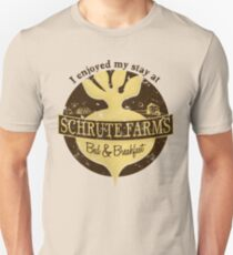 I enjoyed my stay at Schrute Farms (Brown) Unisex T-Shirt
