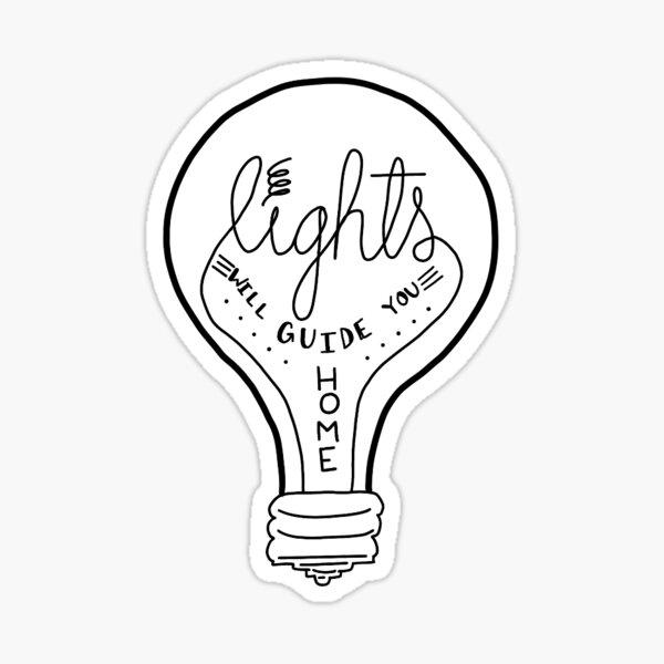 Las luces te guiarán a casa Pegatina