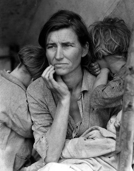 Migrant Mother by Dorthea Lange by Jeff Vorzimmer