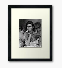 Migrant Mother by Dorthea Lange Framed Print
