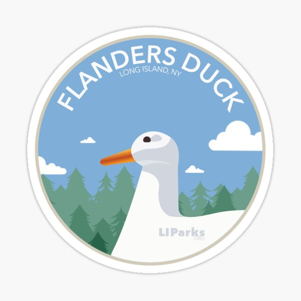 Flanders Duck Circular Sticker