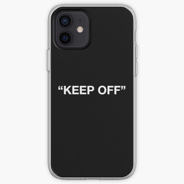 Virgil Abloh - Keep Off - WHITE iPhone Soft Case
