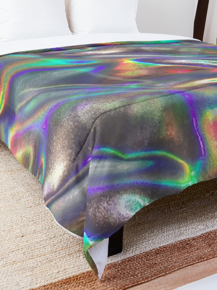 Alternate view of  holographic print Comforter