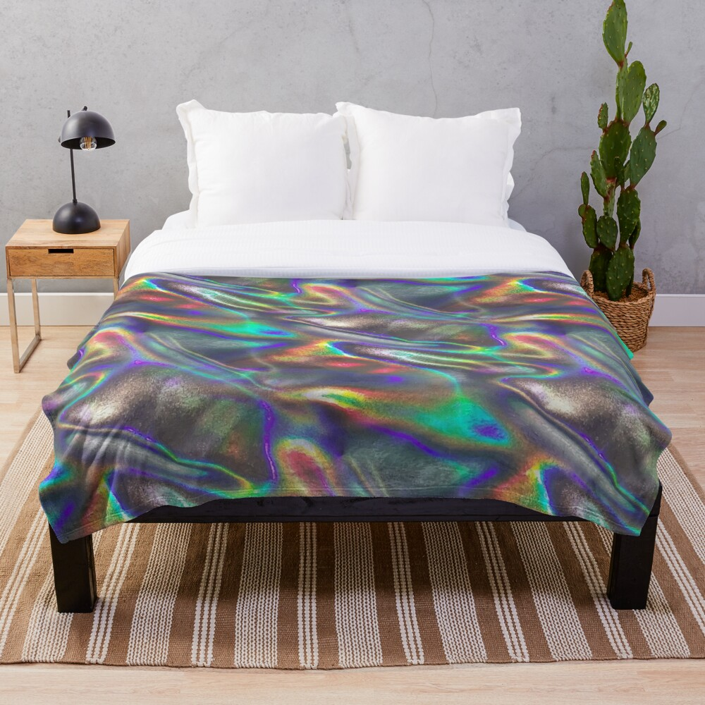 holographic print Throw Blanket