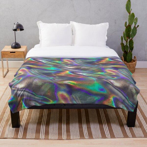 holographic print Throw Blanket