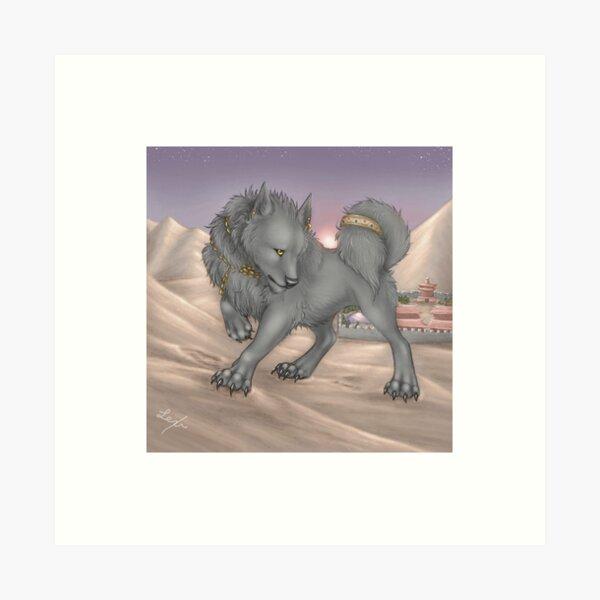 Shadow on the Dunes Art Print