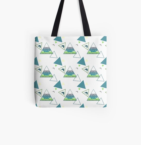 Meowtain Life All Over Print Tote Bag