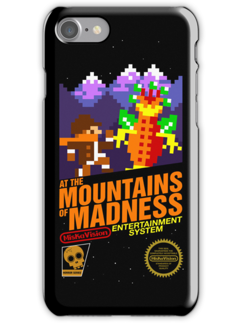 At the Mountains of Madness iPhone Case by wonderjosh