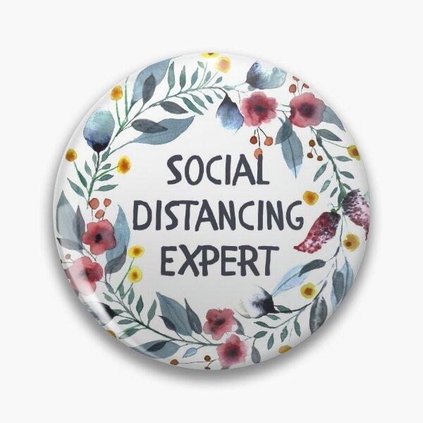Social Distancing Expert Pin