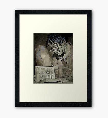 Sonja in Grey Framed Print