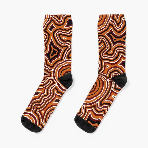 Authentic Aboriginal Art - Pathways - Authentic Design Socks