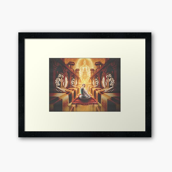 McKenna and the Sands of Time Framed Art Print