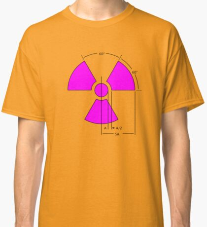Warning Radiation Sign Template Classic T-Shirt