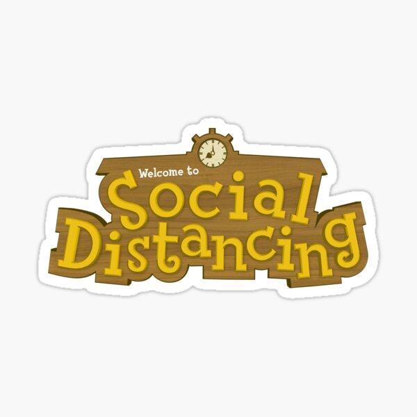 Animal Crossing: Social Distancing Sticker
