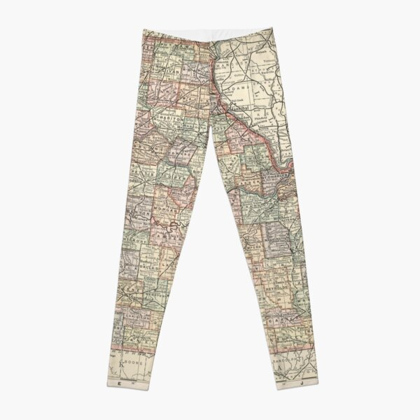 Vintage Map of Missouri (1891) Leggings