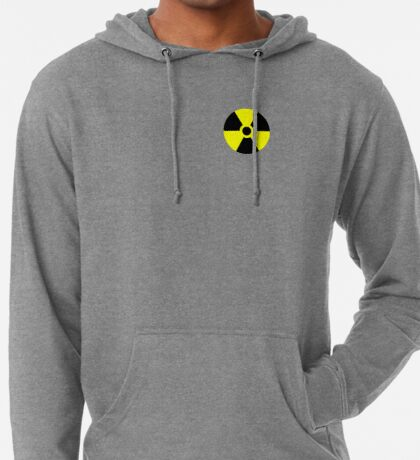 Warning Radiation T Lightweight Hoodie