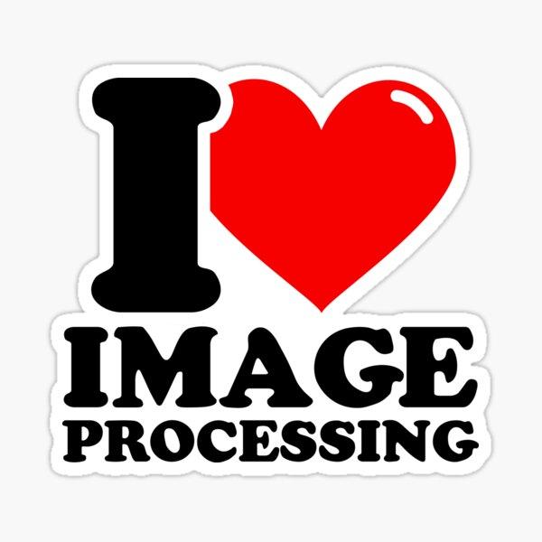 I Love Image processing Sticker