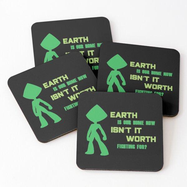 SU Peridot Fighting For Earth Coasters (Set of 4)