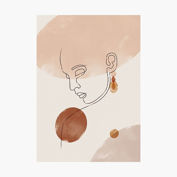 Abstract Face Woman Photographic Print