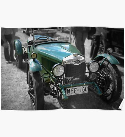 Riley 9 Brooklands 1929 Poster