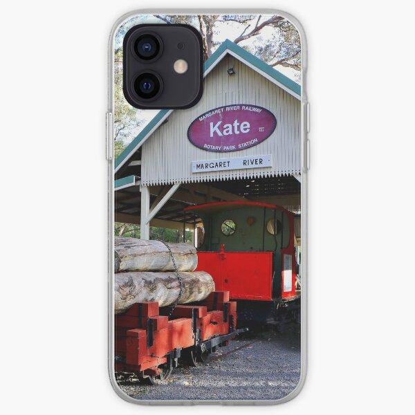 Timber train, Kate, Margaret River, Western Australia iPhone Soft Case