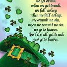 Irish blessing leprechaun hat von Irisangel