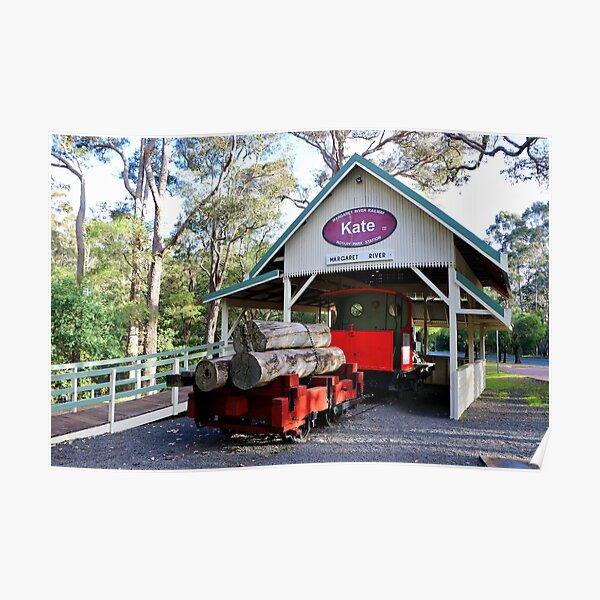 Timber train, Kate, Margaret River, Western Australia Poster