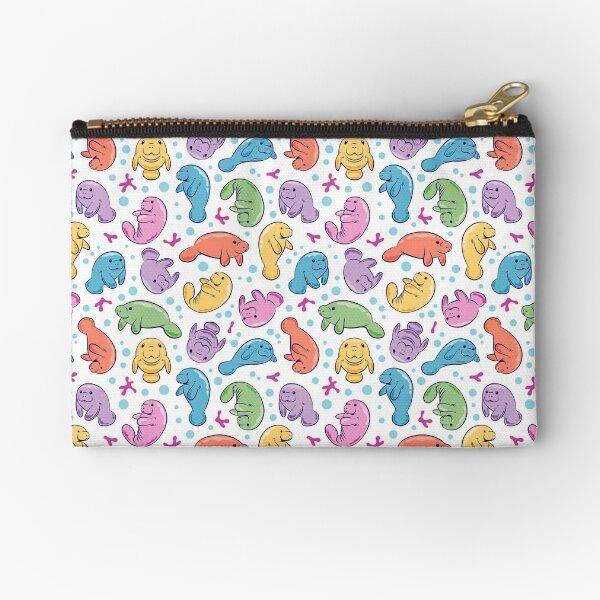 Cute Manatee Pattern - Colorful Underwater Pattern Zipper Pouch