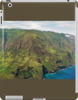 The Na Pali Coast from a Helicopter by Martha Sherman