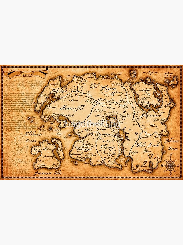 Map of Tamriel - Elder Scrolls IV Oblivion by bagofholding