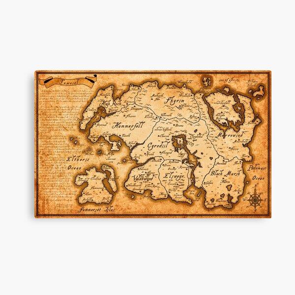 Map of Tamriel - Elder Scrolls IV Oblivion Canvas Print