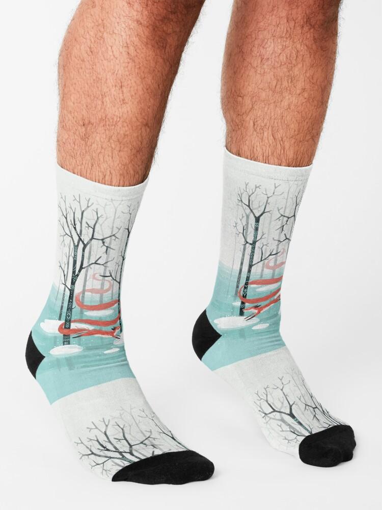 Alternate view of Forest Spirit Socks