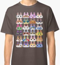 Animal Crossing Cat Villager Heads Classic T-Shirt