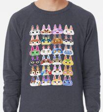 Animal Crossing Cat Villager Heads Lightweight Sweatshirt