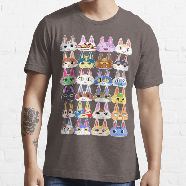 Animal Crossing Cat Villager Heads Essential T-Shirt
