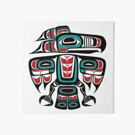 Totem de corbeau natif Tlingit haïda Impression rigide