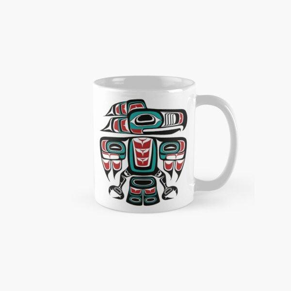 Haida Tlingit Native Raven Totem Classic Mug