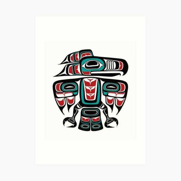 Haida Tlingit Native Raven Totem Art Print