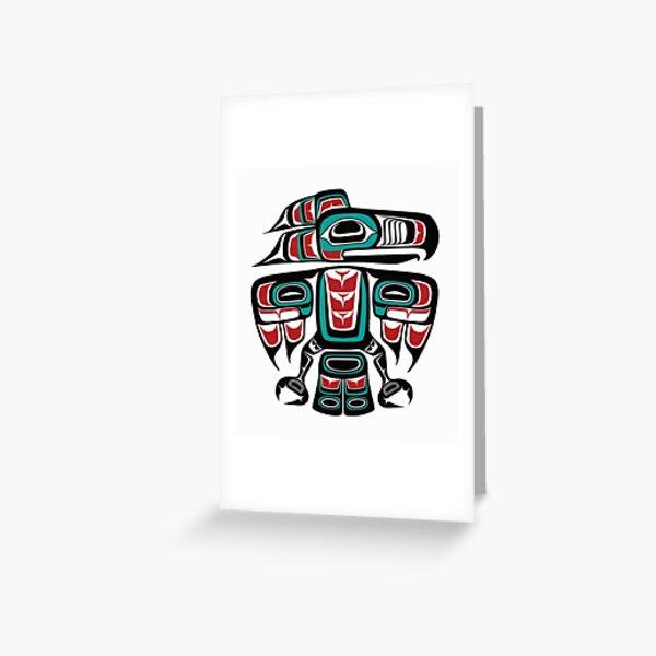 Haida Tlingit Native Raven Totem Greeting Card