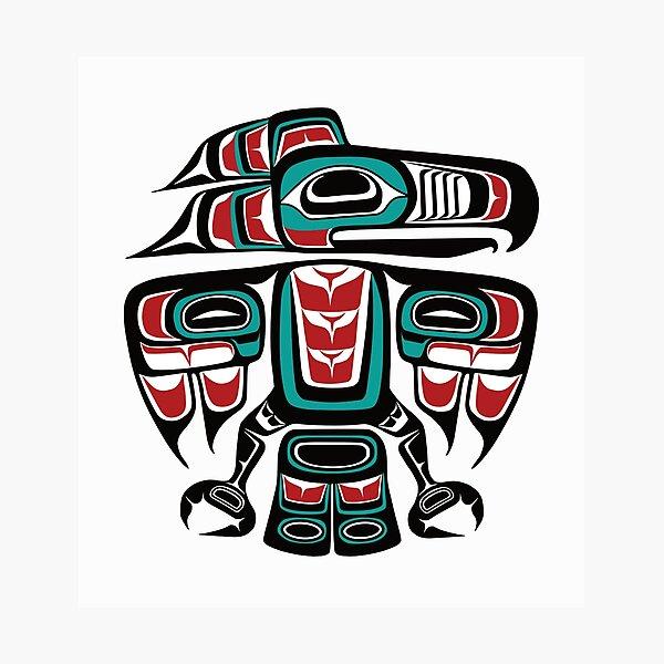Haida Tlingit Native Raven Totem Photographic Print