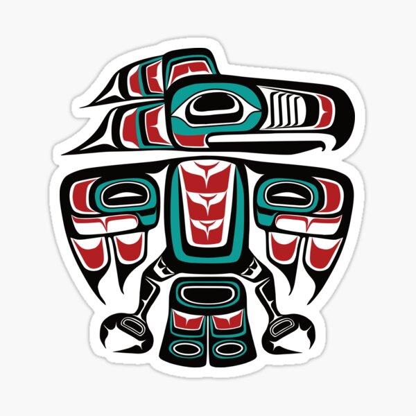 Haida Tlingit Native Raven Totem Sticker