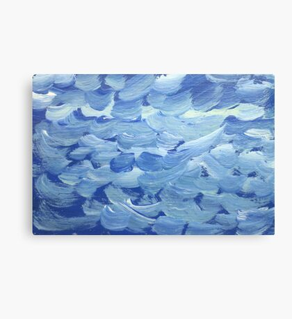 Impression White Capped Waves Canvas Print