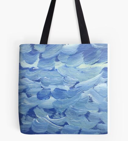Impression White Capped Waves Tote Bag