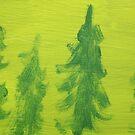 Impression Green Land Pine Trees by Thomas Murphy