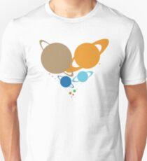 Solar System Heart (to scale) dark version Unisex T-Shirt